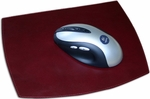 Classic Two Tone Leather Mouse Pad - Burgundy and Black [A7014-FS-DAC]