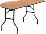 72'' Half-Round Wood Folding Banquet Table [YT-WHRFT72-HF-GG]