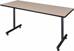 Kobe 72''W x 24''D Laminate Training Table with PVC Edge - Beige [MKTRCT7224BE-REG]