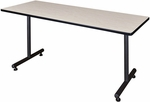 Kobe 72''W x 24''D Laminate Training Table with PVC Edge - Maple [MKTRCT7224PL-REG]