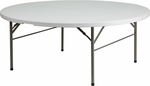 72'' Round Bi-Fold Granite White Plastic Folding Table [DAD-183RZ-GG]
