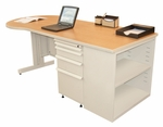 Zapf® 75'' W x 29'' H Teachers Conference Desk with Bookcase - Pumice Finish [ZTCB7530-UT-SO-FS-MVL]