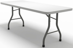 7700 Series 72'' W x 30'' D Rectangular Folding Table - Textured White with Dark Gray Frame [773072DGWT-FS-MAY]