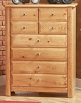 Rustic Style 35''W x 18''D Solid Pine 8 Drawer Chest - Caramel [3534537-C-FS-CHEL]
