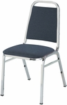 800 Series Stacking Armless Hospitality Chair with Trapezoid Back and 1.5'' Upholstered Dome Seat [810-IFK]