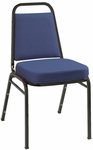 800 Series Stacking Armless Hospitality Chair with Trapezoid Back and 2'' Upholstered Dome Seat [820-IFK]