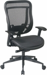 Space 818 Breathable Mesh Back and Seat Executive Office Chair with 2-to-1 Synchro Tilt - Black [818-11G9C18P-FS-OS]