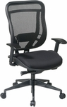 Space 818 Breathable Mesh Back and Black Mesh Seat Executive Office Chair with 2-to-1 Synchro Tilt- Black [818-31G9C18P-FS-OS]