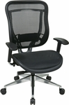 Space 818 Executive High Back Office Chair with Breathable Mesh Back and Seat and 300 lb Weight Capacity [818A-11P9C1A8-FS-OS]
