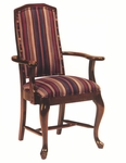 8631 Arm Chair w/ Queen Anne Legs, Upholstered Back & Seat - Grade 1 [8631-GRADE1-ACF]