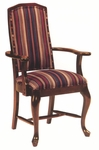8631 Arm Chair w/ Queen Anne Legs, Upholstered Back & Seat - Grade 2 [8631-GRADE2-ACF]