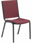 8800 Series Armless Comfort Stacker Chair in Sedona Ruby Fabric and Char Black Frame - 19.5''W x 22.75''D x 33''H [8802-RED201-BLK01-VCO]