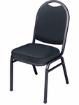 8900 Series Multi-Purpose Stack Chair with Stack Bars, Round Back, and Crown Seat - 18''W x 22''D x 35.5''H [8916SB-VCO]