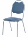 8900 Series Stack Chair with Round Back and Dome Seat in Vinyl Upholstery - 18''W x 22''D x 35.5''H [8917-VINYL-VCO]
