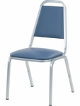 8900 Series Stack Chair with Trapezoid Back and Dome Seat in Vinyl Upholstery - 18''W x 22''D x 34.5''H [8926-VINYL-VCO]