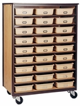 9-Shelf Tote Tray Mobile Storage [2076-O-IRO]