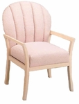 9450 Reception Chair: Upholstered Channel Back & Spring Seat w/ Wood Frame - Grade 2 [9450-GRADE2-ACF]