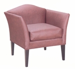 9845 Lounge Chair w/ Tapered Wood Legs, Upholstered Back & Spring Seat - Grade 1 [9845-GRADE1-ACF]
