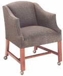9900 Lounge Chair w/ Casters, Upholstered Spring Back & Seat - Grade 1 [9900-GRADE1-ACF]