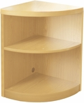 Aberdeen Two Shelf Quarter Round 29.5'' H Bookcase - Maple [ABQ2LMA-FS-MAY]