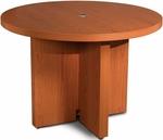 Aberdeen 42'' Dia Round Conference Table - Cherry [ACTR42LCR-FS-MAY]