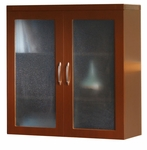 Aberdeen 36'' W x 18'' D x 39.25'' H Glass Display Cabinet - Cherry [AGDCLCR-FS-MAY]