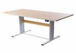 Accella Group Therapy Table with Hand Crank Adjustment [AC-4836-GT-ADAS]