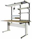 Accella Hand-crank Adjusted Ergonomic Workbench - Two Leg [AC-IWB-2L6030-ADAS]