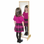 Tuff-Gloss UV Finished Safety Acrylic Kids Mirror - 15''W x 12''D x 49''H [12200-WDD]