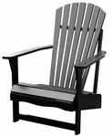 Outdoor Solid Wood Adirondack 38''H Chair - Black [C-51902-FS-WHT]