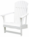 Outdoor Solid Wood Adirondack 38''H Chair - White [C-51900-FS-WHT]