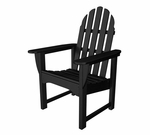 POLYWOOD® Adirondack Collection Dining Chair - Black [ADDC-1BL-FS-PD]