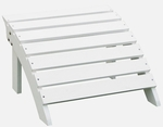 Outdoor Solid Wood 22''W X 14''H Adirondack Footrest - White [S-51900-FS-WHT]