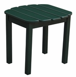 Outdoor Solid Wood 19''W X 17''H Adirondack Side Table - Hunter Green [T-51901-FS-WHT]