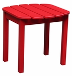 Outdoor Solid Wood 19''W X 17''H Adirondack Side Table - Red [T-92248-FS-WHT]