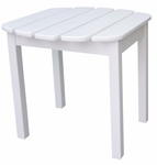 Outdoor Solid Wood 19''W X 17''H Adirondack Side Table - White [T-51900-FS-WHT]