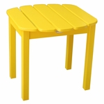 Outdoor Solid Wood 19''W X 17''H Adirondack Side Table - Yellow [T-51903-FS-WHT]
