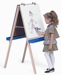 Height Adjustable Easel with Chalk & Write/Wipe Board [WB6800-FS-WBR]