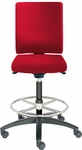 Adjust Tall Height Swivel Stool with Upholstered Outer Shell [AJ14500T-UBR-FS-DV]