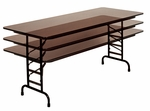 Adjustable Height Solid Plywood Core Rectangular Folding Table - 36''D x 72''W [PCA3672P-CRL]