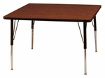 Adjustable Height Square 1.125'' Table [30SQ-CSC]