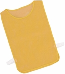 Adult Nylon Mesh Pinnie in Gold - Set of 12 [MPAGD-FS-CHS]