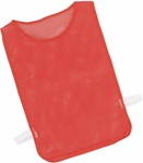 Adult Nylon Mesh Pinnie in Scarlet - Set of 12 [MPARD-FS-CHS]