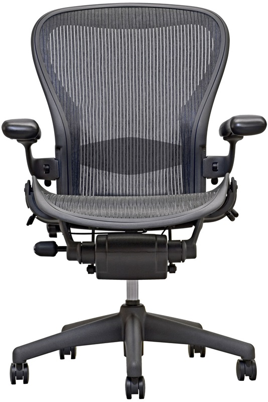 aeron chair open box highly adjustable task chair - carbon, her