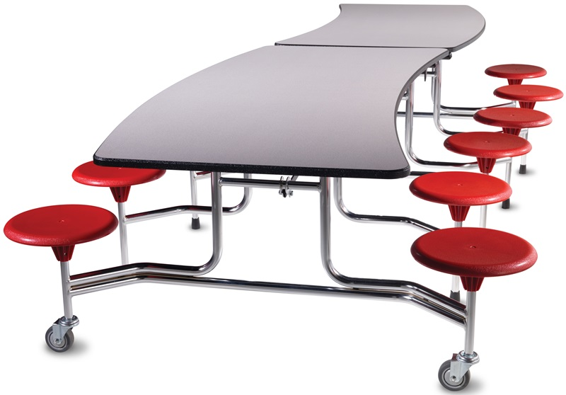 Afton edgescape foldable cafeteria table with 12 for 120 round table seats how many