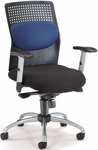 AirFlo Executive Task Chair with Silver Accents - Blue [651-M10-FS-MFO]