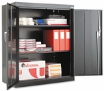 Alera® Assembled 42'' High Storage Cabinet - w/Adjustable Shelves - 36w x 18d - Black [ALECM4218BK-FS-NAT]