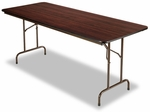 Alera® Wood Folding Table - Rectangular - 72w x 30d x 29h - Walnut [ALEFT727230WA-FS-NAT]