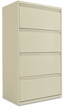 Alera® Four-Drawer Lateral File Cabinet - 30w x 19-1/4d x 53-1/4h - Putty [ALELF3054PY-FS-NAT]