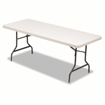 Alera® Resin Rectangular Folding Table - Square Edge - 72w x 30d x 29h - Platinum [ALE65600-FS-NAT]
